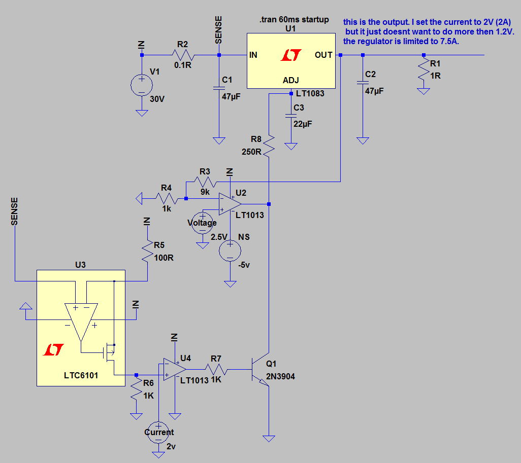 Lt1083 Lm317 Current Limit To Be Make The Regulator Go Down Below 12v Constant Source Schematic