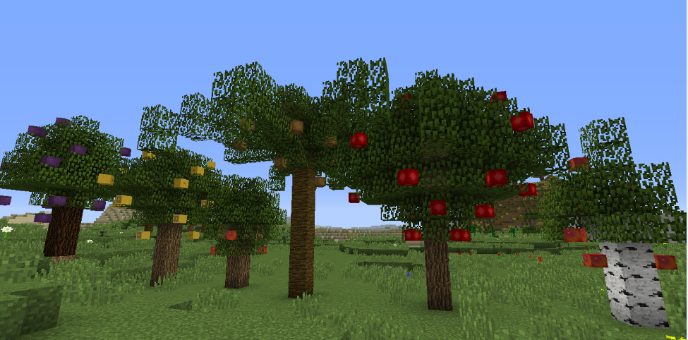 minecraft plant apple tree