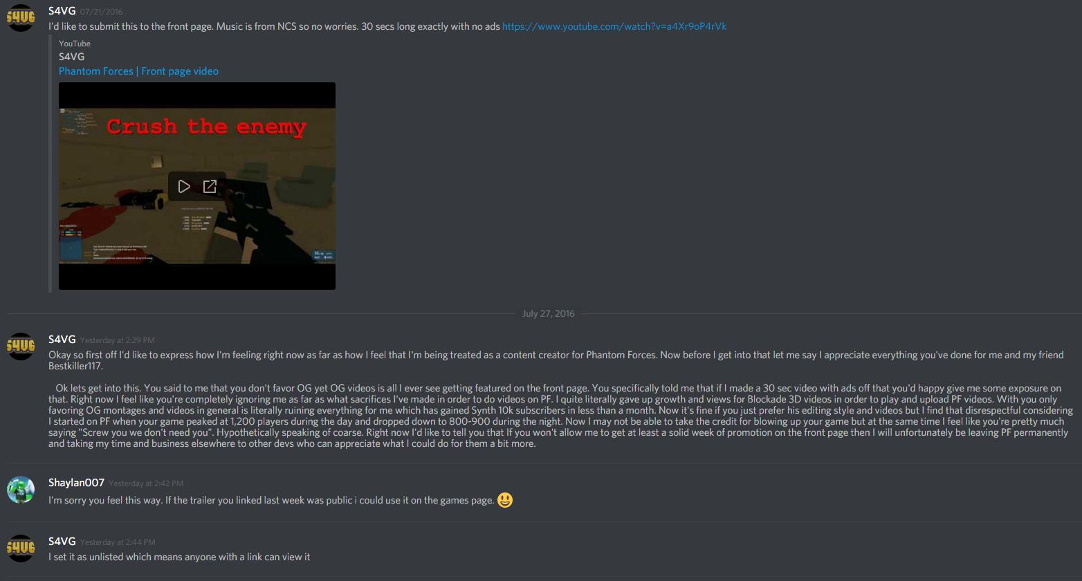 Stop talking about S4VG : PhantomForces