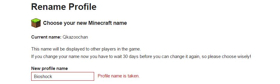 minecraft name