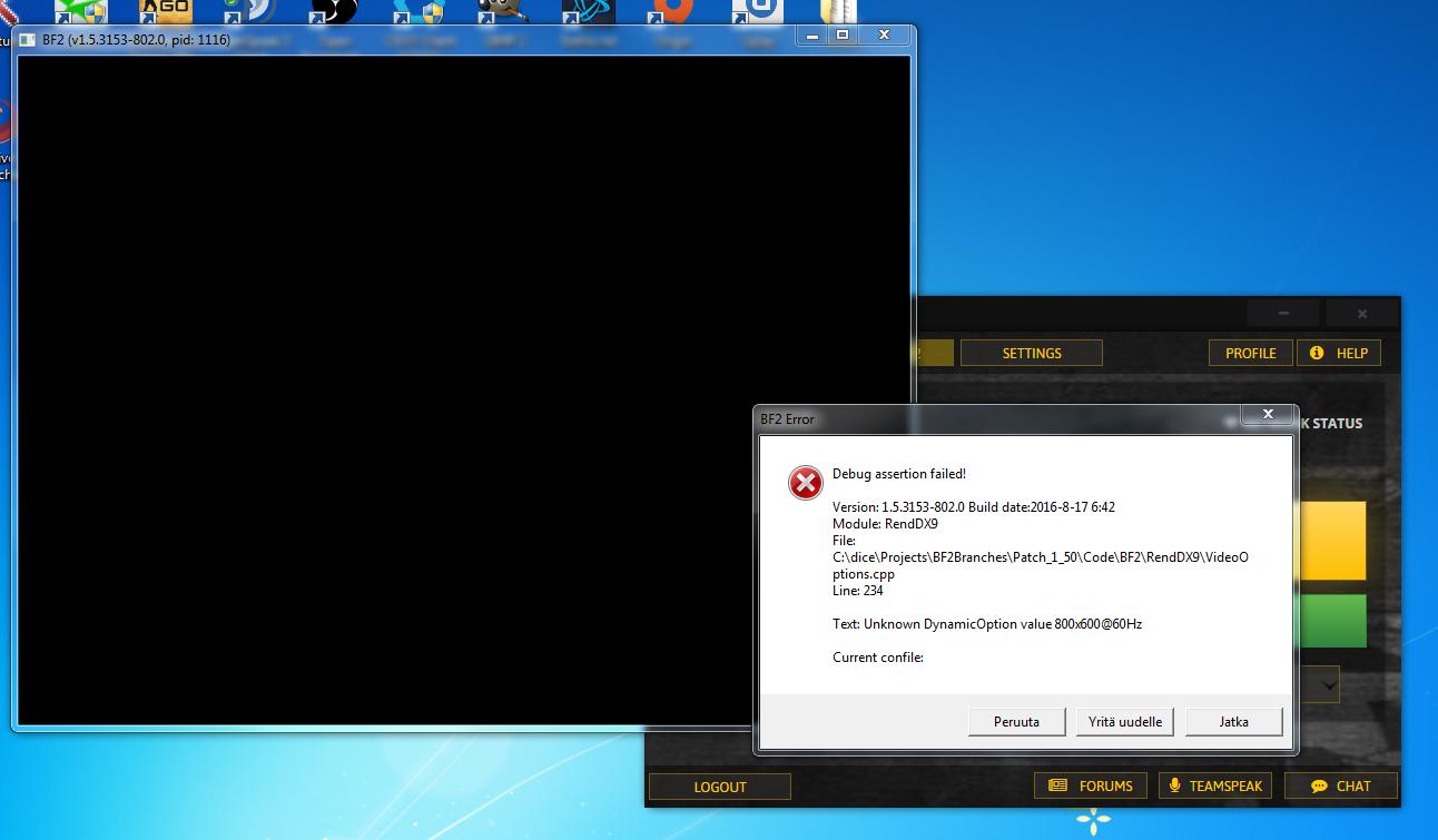Battlefield 2 Error Debug Assertion Failed